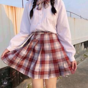 日系格裙JK制服裙下半身格子短裙百褶裙女学生jk