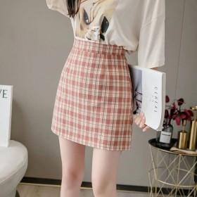 2021新款夏季格子短裙女半身显瘦时尚百搭a字裙