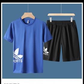 夏季休闲运动套装男夏装青少年速干韩版潮流短袖两件套