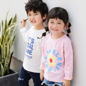 男童长袖T恤纯棉春秋童装儿童女童宝宝小童大童上衣打