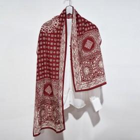 双绉真丝窄版长条丝巾女小领巾
