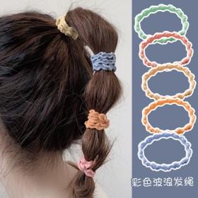 新款波浪发圈丸子头皮筋女学生韩版头绳简约可爱发绳