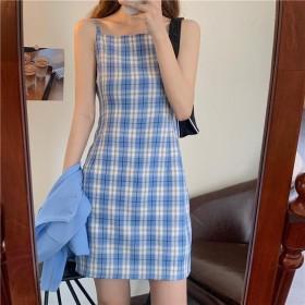 吊带连衣裙2021夏季新款学生显瘦甜美气质初恋短裙