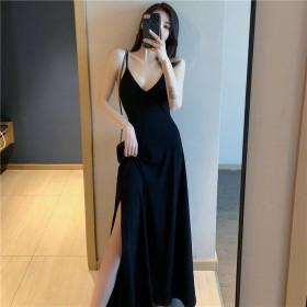 吊带裙连衣裙女2021新款温柔风轻熟大码高腰A字