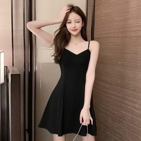 吊带裙连衣裙女2021新款夏外穿网红收腰显瘦A字