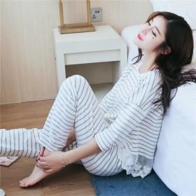 睡衣女秋季睡衣女长袖春秋少女甜美可爱家居服可外穿