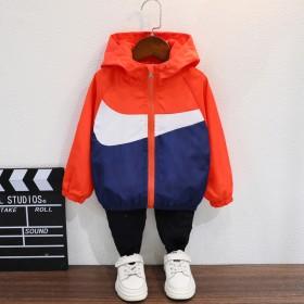 男童外套秋装2021新款韩版男孩夹克中大童冲锋衣儿