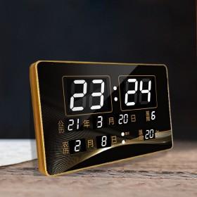 康巴丝万年历电子钟台挂两用日历时钟表