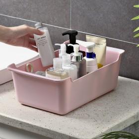 收纳盒桌面化妆品面膜零食收纳筐厨房置物架宿舍学生收