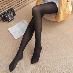 丝袜女春秋薄款防勾丝连裤袜光腿黑肉色打底裤wcl