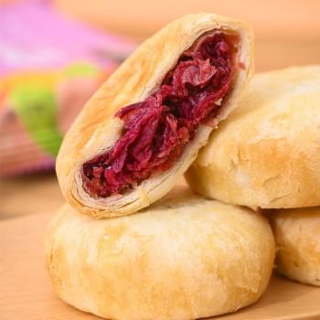 云南特产鲜花玫瑰饼8枚装【好品质非花酱】