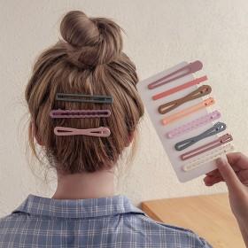 10个装】发夹边夹碎头发夹子女韩国一字头绳