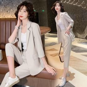 西装外套女夏季新款韩版时尚气质洋气大码休闲网红西服