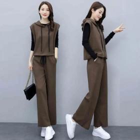 三件套潮时髦洋气套装女春季新款气质减龄显瘦阔腿裤休