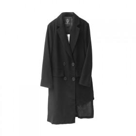 春秋新款时尚设计感法式复古西服毛呢外套