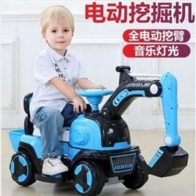 儿童挖掘车玩具可坐可骑挖土工程车自驾型强续航音乐