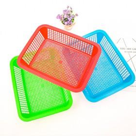 1.82元3个长方形洗菜篮家用厨房货篮塑料洗菜筐