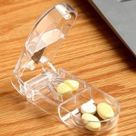 药盒便携大容量随身密封小号迷你切药器分装盒