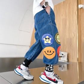 男童秋装牛仔裤2021新款儿童洋气春秋长裤帅气韩版