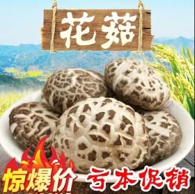 椴木野生花菇肉厚大花菇自然晒干香菇香味浓郁250g