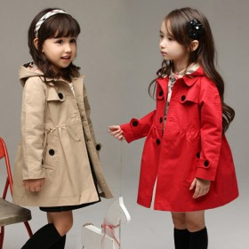 女童春秋装外套儿童装女孩宝宝春季开衫风衣女孩上衣