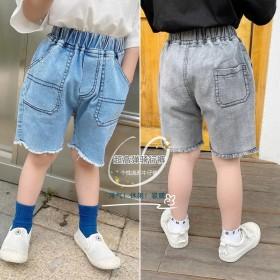 儿童短裤男童骑行裤夏季韩版牛仔裤薄款外穿五分裤子