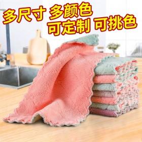 抹布不沾油不掉毛洗碗布去污吸水厨房专用百洁布擦手巾