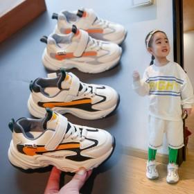 儿童运动鞋2021夏季新款时尚网面拼接拼色女童休闲