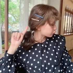 莫兰迪色发夹女韩版学生可爱简约风发卡网红ins风一