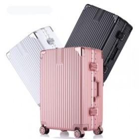 行李箱网红拉杆箱女铝框旅行箱万向轮男密码箱20寸