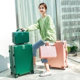 20寸 行李箱网红拉杆箱女铝框旅行箱万向轮男密码箱