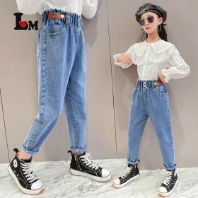 女童花苞裤2021新款10牛仔裤5时髦6洋气8学生