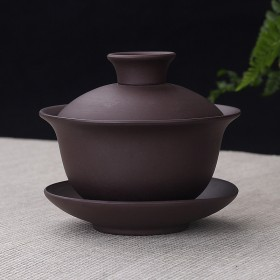 紫砂三才盖碗 泡茶碗 免费送