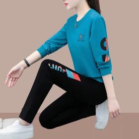 运动休闲套装时尚韩版宽松显瘦圆领卫衣两件套