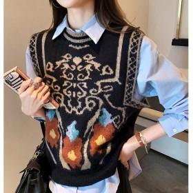 马甲女士秋季外穿爆款针织背心马夹韩版外搭毛衣洋气
