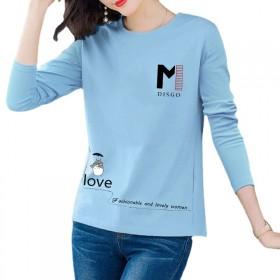 秋季新款卡通长袖T恤女装韩版爆款时尚百搭打底女式T