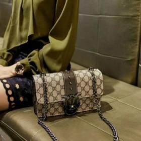 新款时尚斜挎燕子飞鸟包单肩手提女链条小方包