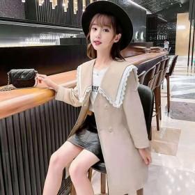 童外套女秋装韩版公主风衣英伦时髦学生上衣洋气儿童中
