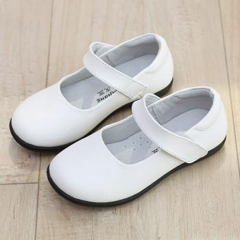女童黑皮鞋童真皮演出鞋鞋软底学生鞋