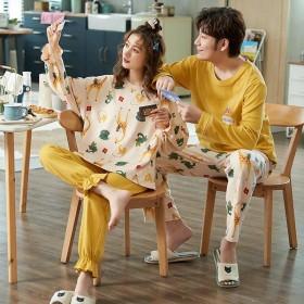 两套价情侣睡衣女秋冬款棉质长袖韩版学生冬季男士可爱