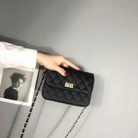 小香风菱格链条包包女潮百搭斜挎包迷你韩版小包