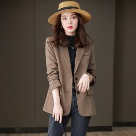 黑色高级感上衣小个子短款西装外套女休闲宽松廊型西服
