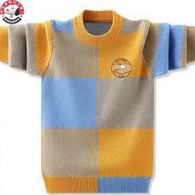史努比男童秋冬圆领毛衣针织衫加绒加厚外穿上衣
