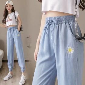 哈伦裤女夏季薄款韩版高腰宽松