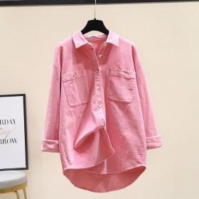 纯棉衬衫法式气质宽松长袖衬衣叠穿上衣女外套