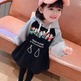 童装女童宝宝中长款洋气韩版卫衣连衣裙公主裙