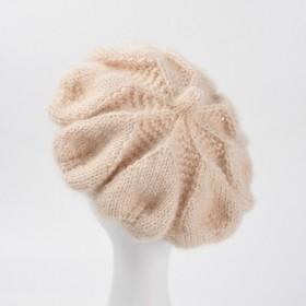 亮丝针织毛线贝雷帽女秋冬甜美画家帽