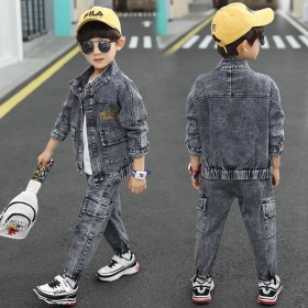 男童牛仔套装春秋装中大童外套童装秋季两件套儿童衣服