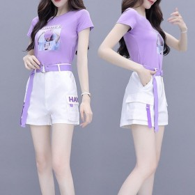 新款女裙女小个子气质洋气减龄女生夏季时尚短裤两件套
