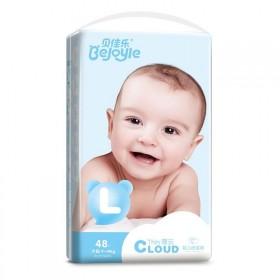 贝佳乐婴儿纸尿裤透气S78/M52/L48/XL